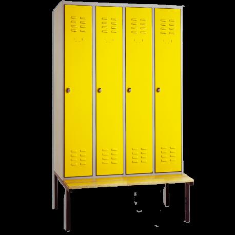 Garderobenschrank mit untergebauter Sitzbank