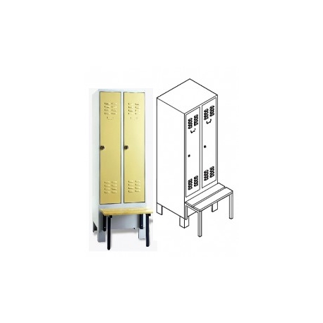 Garderobenschrank mit vorgebauter Sitzbank
