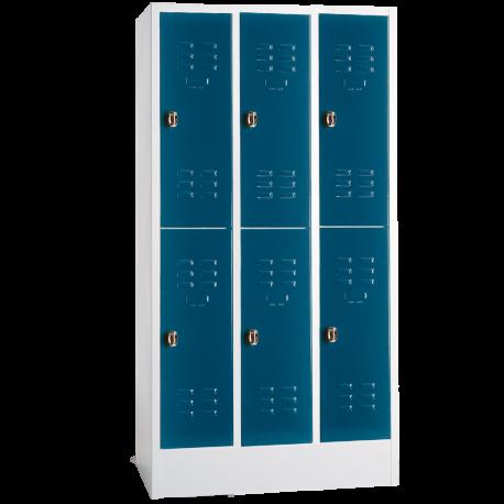 Garderobenschrank 2 Türen Übereinander