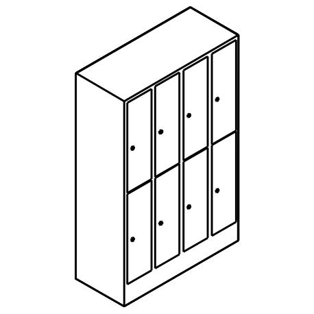 schlie fachschrank mit 4 abteilen und 8 f chern bereinander. Black Bedroom Furniture Sets. Home Design Ideas