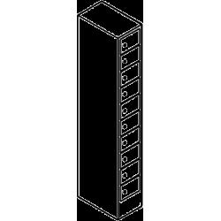 Schließfachschrank 10 Fächer Übereinander