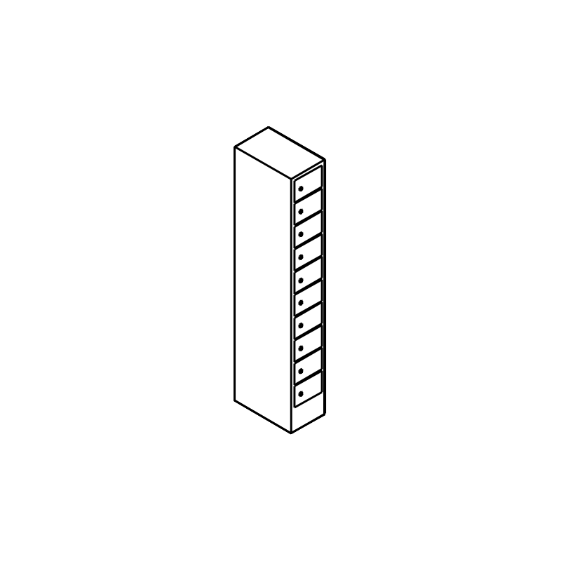 schlie fachschrank mit 1 abteil und 10 f chern bereinander. Black Bedroom Furniture Sets. Home Design Ideas