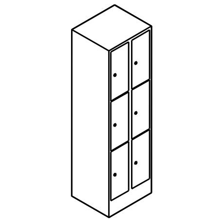 Schließfachschrank 3 Fächer Übereinander