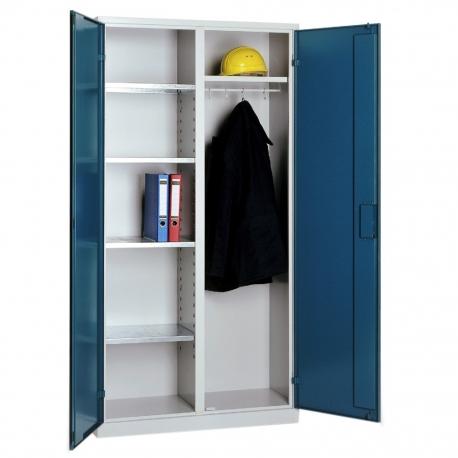 Materialschrank mit Garderobe