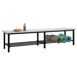 Freistehende Sitzbank mit Kunststoffleisten