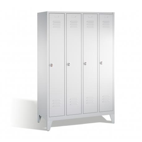 C+P Garderobenschrank Classic auf Füßen, 4 Abteile