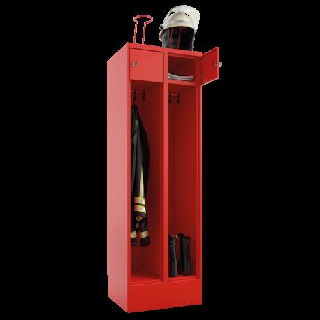 Feuerwehrschrank mit Schließfach